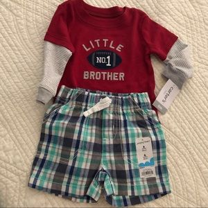 "✳️ [NEW] Six month infant ""little brother"" outfit"